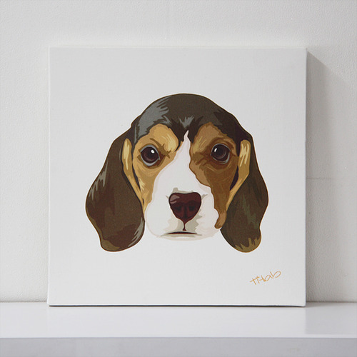 art canvas #T004 - Beagle