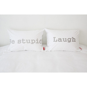 [SET]Laugh+Be stupid 베개커버 (50x70)